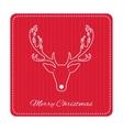 Creative retro Merry Christmas greeting card vector image vector image