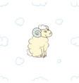 cute cartoon sheep boy in the clouds vector image