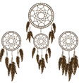Dream catchers set vector image