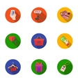 E-commerce set icons in flat style Big collection vector image vector image