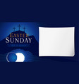 easter sunday holy week poster vector image vector image