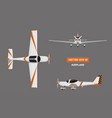 fast sports airplane on gray background vector image vector image