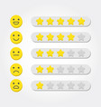 feedback concept five stars rating and emoji vector image