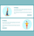 fitness activities people active lifestyle set vector image vector image