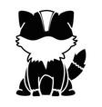 fox animal icon vector image