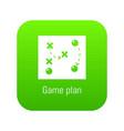 game plan icon green vector image