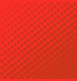 halftone dots on red background vector image vector image