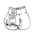 Hand drawn boxing gloves isolated on white vector image vector image