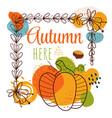 hello autumn frame banner vector image