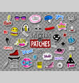 hipsters teens stickers and patches vector image vector image