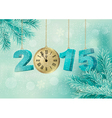 Holiday background with a 2015 made with a clock vector image vector image