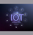 internet things iot and networking concept vector image vector image