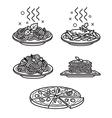 Italian cuisine vector image