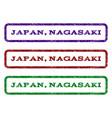 japan nagasaki watermark stamp vector image vector image