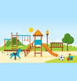 kids playground horizontal bars swings vector image vector image