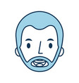 man avatar face male smiling image vector image vector image