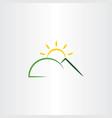 mountain sun sunset logo icon design element vector image vector image