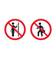 no soliciting sign red prohibitation signs vector image vector image