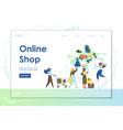 online shop website landing page design vector image