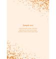 Orange page corner design template vector image vector image