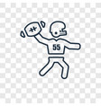 playing throwing the ball in his hand concept vector image