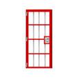 red door prison noticeably better detailed shadow vector image