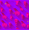 seamless pattern with halloween elements and vector image