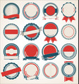 set blank retro vintage badges collection 9 vector image vector image
