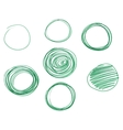 set hand drawn circles logo design vector image