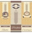 Set linear pasta Italian cuisine flyers labels vector image