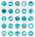 Set of business internet service icons vector image