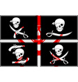set of pirates flags stencils vector image vector image