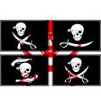 set pirates flags stencils vector image vector image