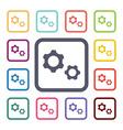 settings flat icons set vector image vector image