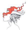 smoking girls vector image vector image