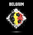 soccer ball in the color of belgium vector image vector image