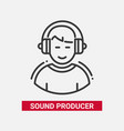 sound producer - line design single isolated icon vector image vector image