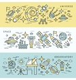 Space Line Banner Set vector image vector image
