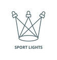 sport lights line icon linear concept vector image