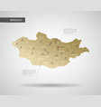 stylized mongolia map vector image