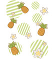summer and beach background vector image vector image