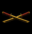 swords katana o tanto vector image vector image