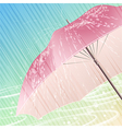 The spring rain vector image