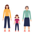 three ages women from child to vector image vector image