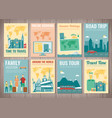 travel and tourism brochure set template of vector image