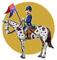 Us cavalry yellow vector image