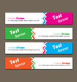 website headers vector image vector image