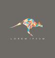 Kangaroo jump colorful mosaic pattern vector image