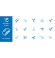 15 scissor icons vector image vector image