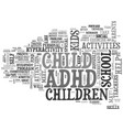 adhd after school text word cloud concept vector image vector image
